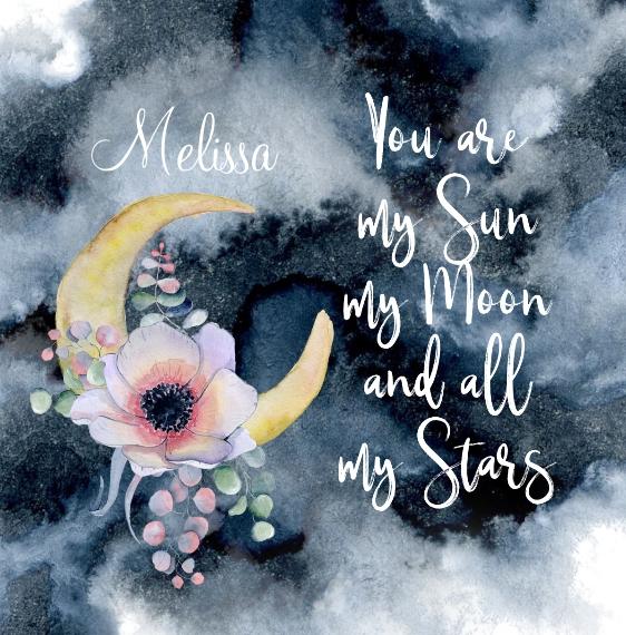 Everyday Shower Curtain, 69x68, Gift -Sun Moon Stars