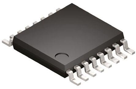 STMicroelectronics ST202EBTR, Line Transceiver, RS-232 2-TX 2-RX 2-TRX, 5 V, 16-Pin TSSOP (5)