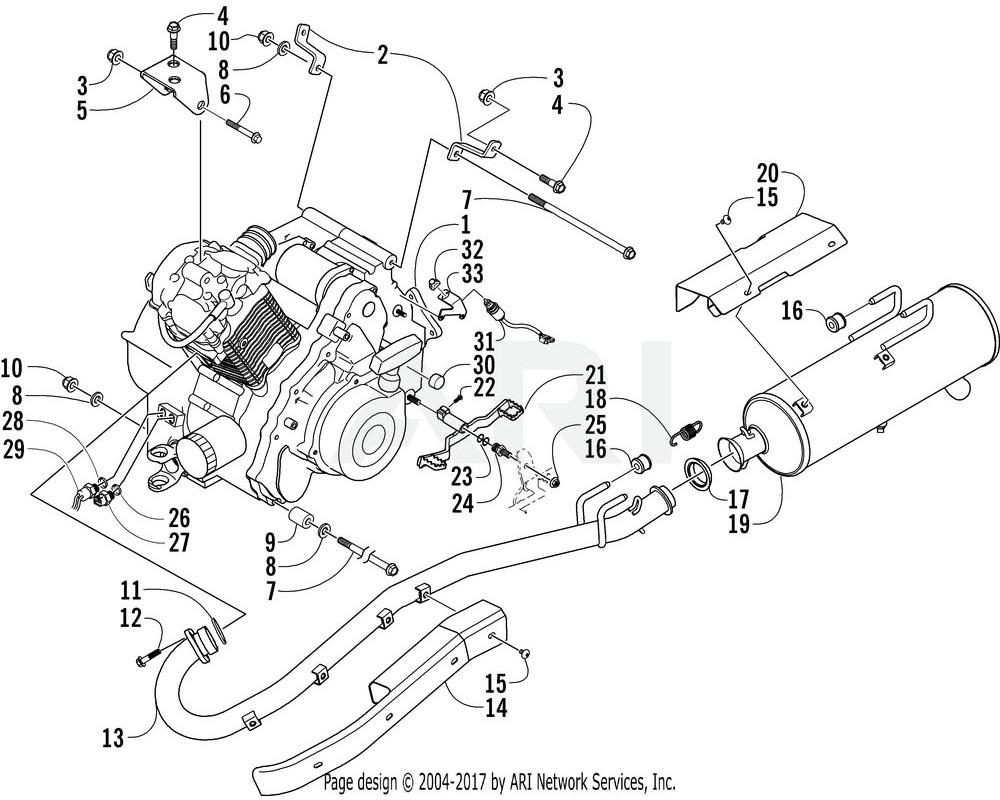 Arctic Cat OEM 0412-220 Shield Exhaust Pipe