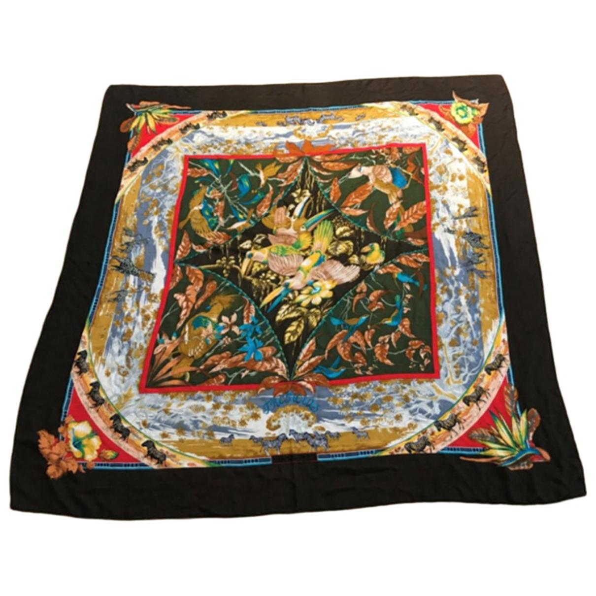 Hermès Carré Géant silk 140 Multicolour Cashmere scarf for Women N