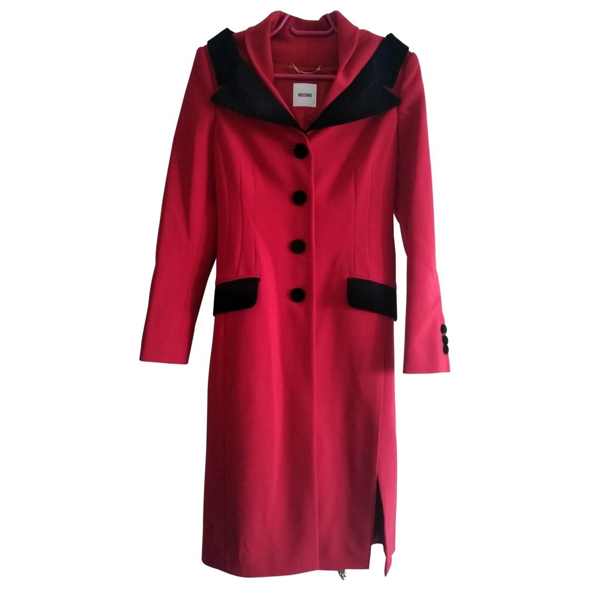 Moschino - Manteau   pour femme en laine - rouge