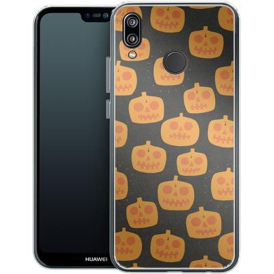 Huawei P20 Lite Silikon Handyhuelle - Pumpkin Pattern von caseable Designs