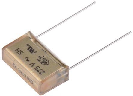 KEMET Paper Capacitor 100nF 275V ac ±20% Tolerance P409 Through Hole +85°C (5)