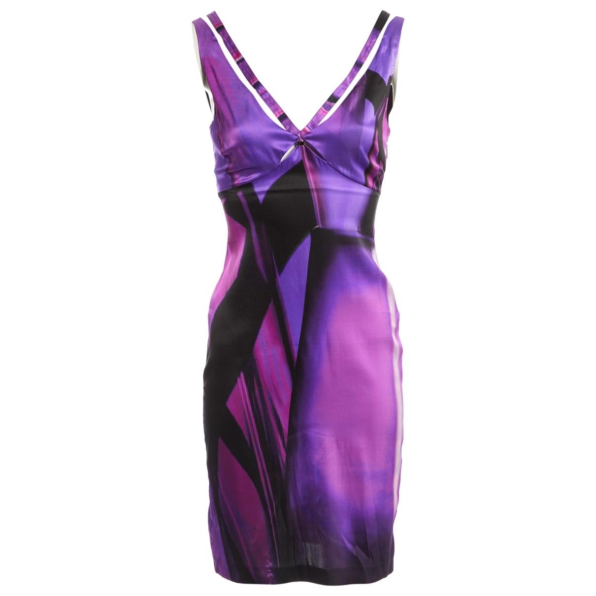 Roberto Cavalli \N Kleid in  Lila Seide