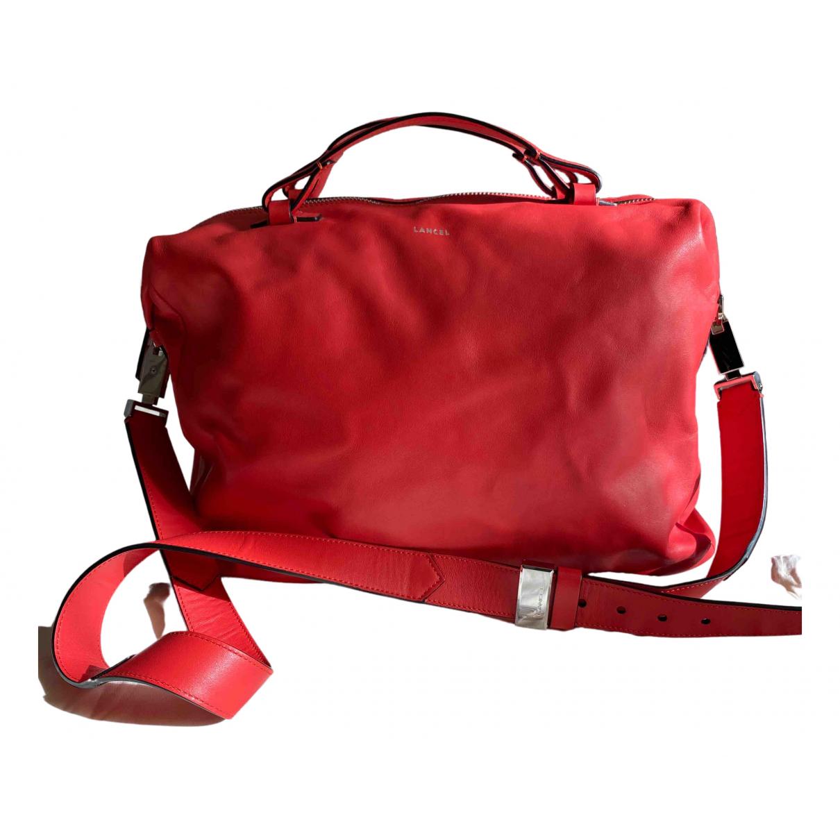 Lancel - Sac de voyage   pour femme en cuir - rouge