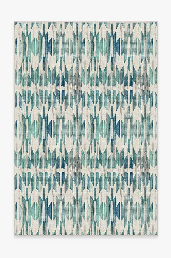 Washable Rug Cover | Hesperia Teal Rug | Stain-Resistant | Ruggable | 6'x9'