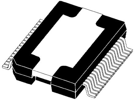 STMicroelectronics VN808CM-32-E High Side MOSFET Power Driver, 1A 36-Pin, PowerSO
