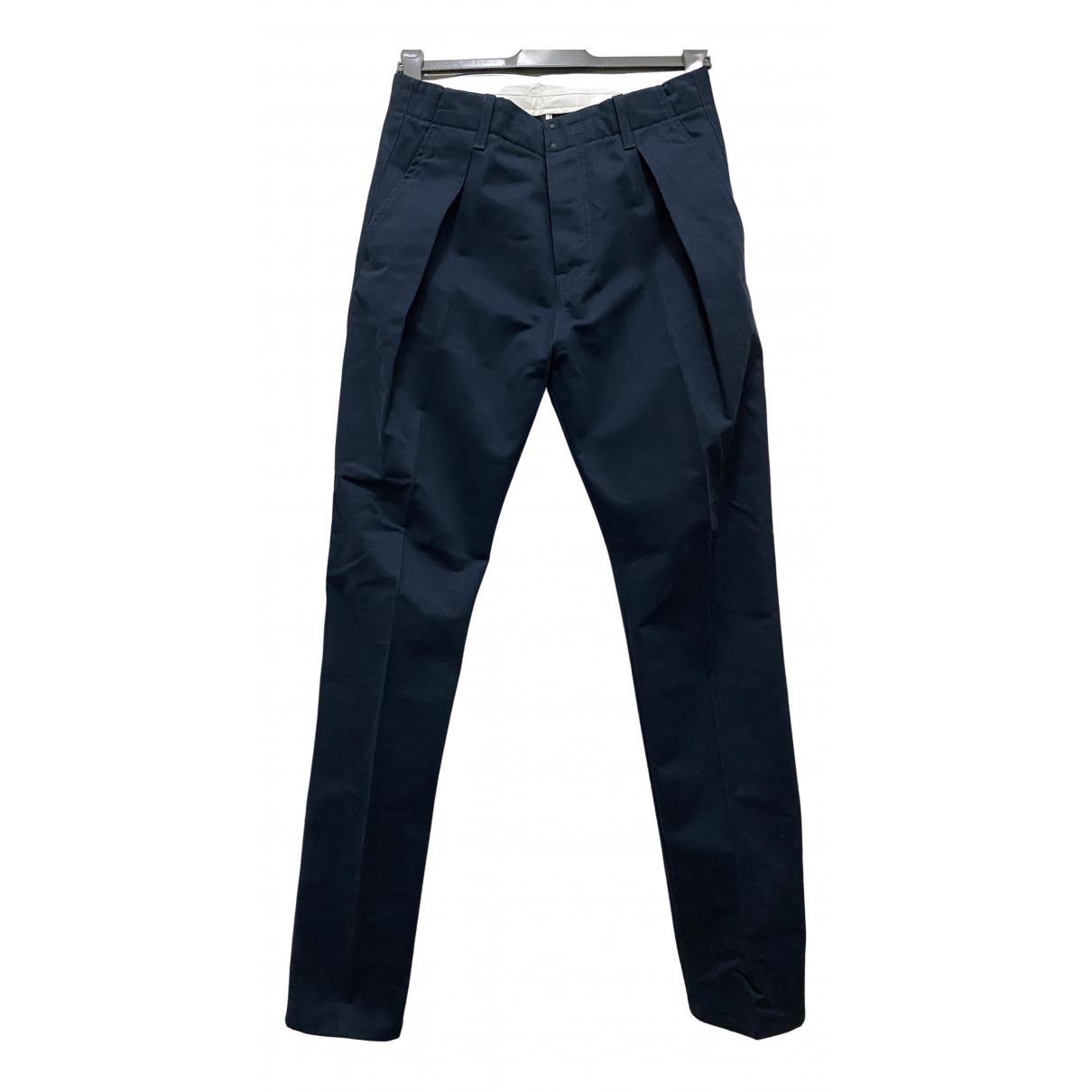 Pantalones en Algodon Azul Andrea Pompilio