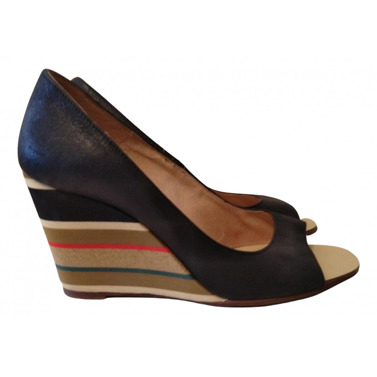 Minelli - Boots   pour femme en cuir - multicolore