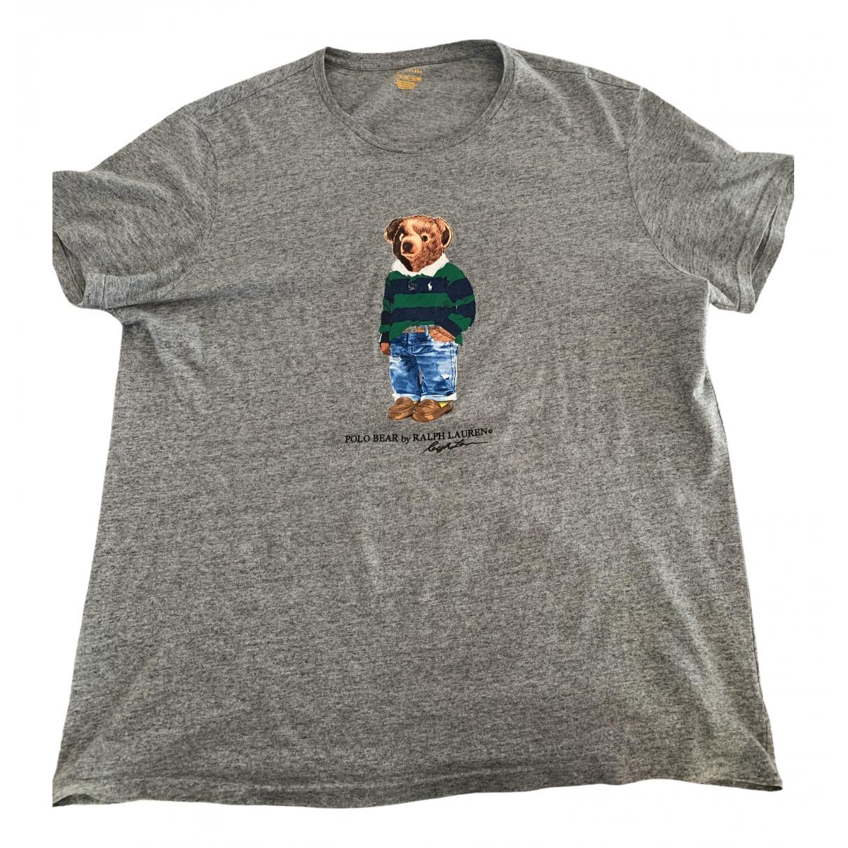 Polo Ralph Lauren \N Grey Cotton T-shirts for Men XXL International