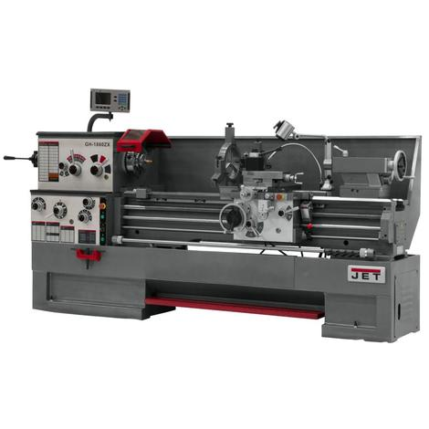 Jet Gear Head 18 x 60 ZX Lathe with 2-Axis Acu-Rite 203 Dro, and Collet Closer Installed