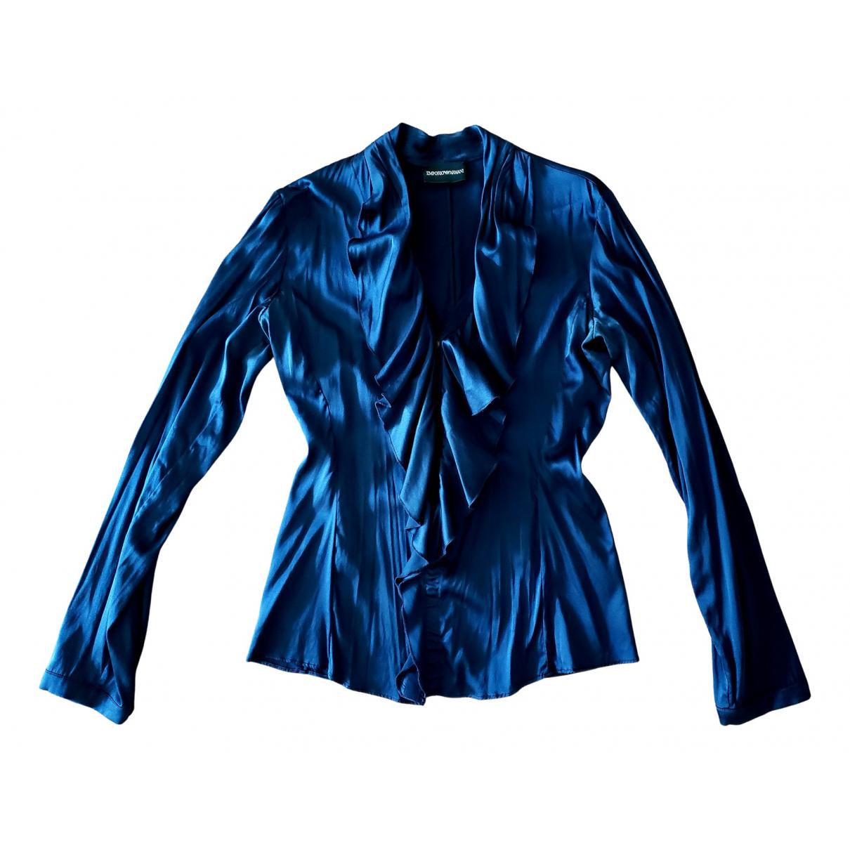 Emporio Armani - Top   pour femme en soie - marine
