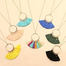 7 Stuecke Halskette mit Quasten