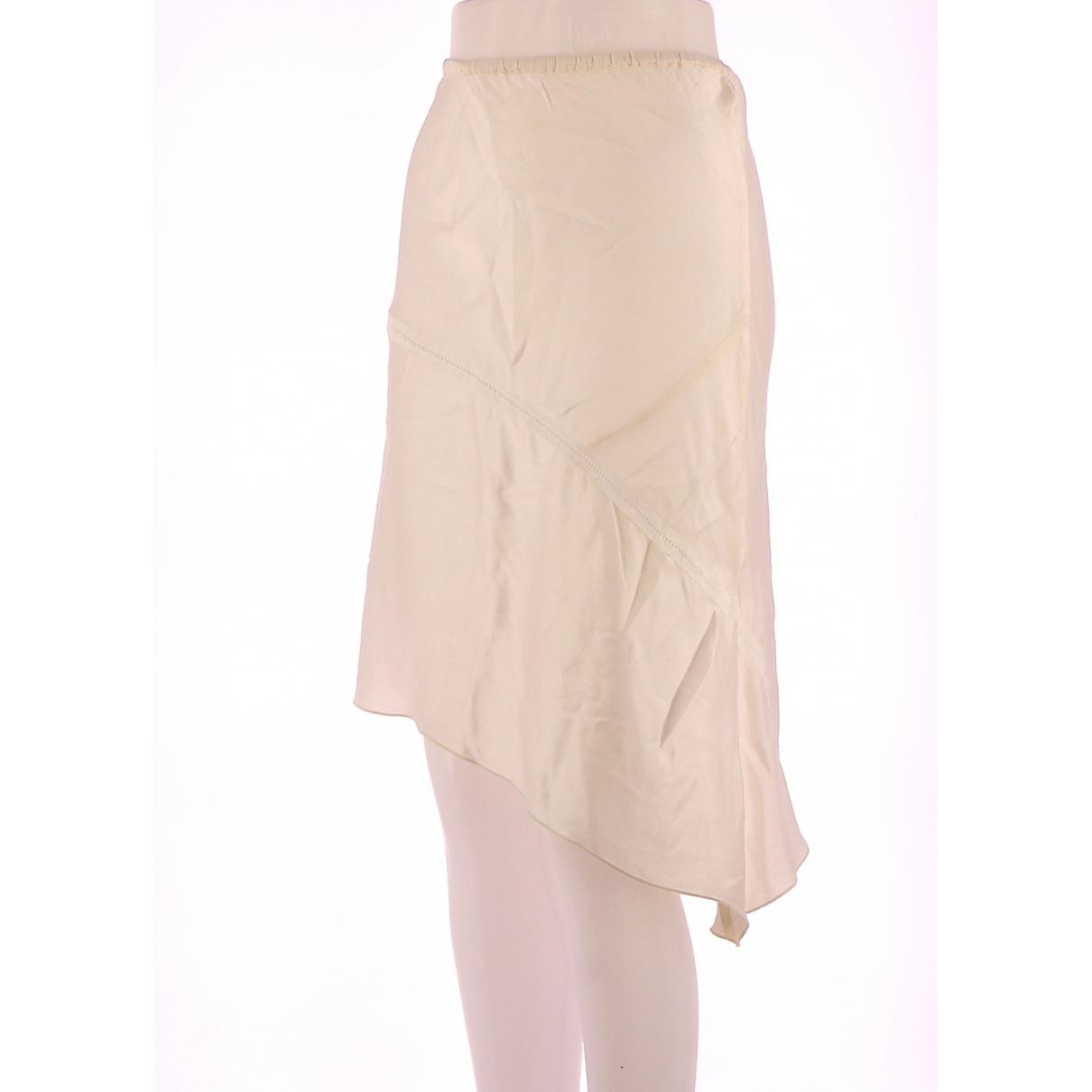 Maje - Jupe   pour femme en soie - blanc