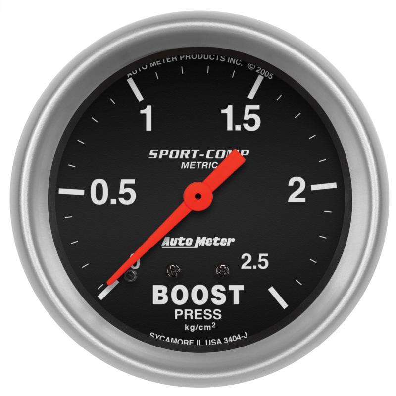 AutoMeter GAUGE; BOOST; 2 5/8in.; 2.5KG/CM2; MECHANICAL; SPORT-COMP