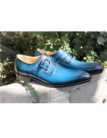Mens Stitched Welt Slip On Carrucci Shoe