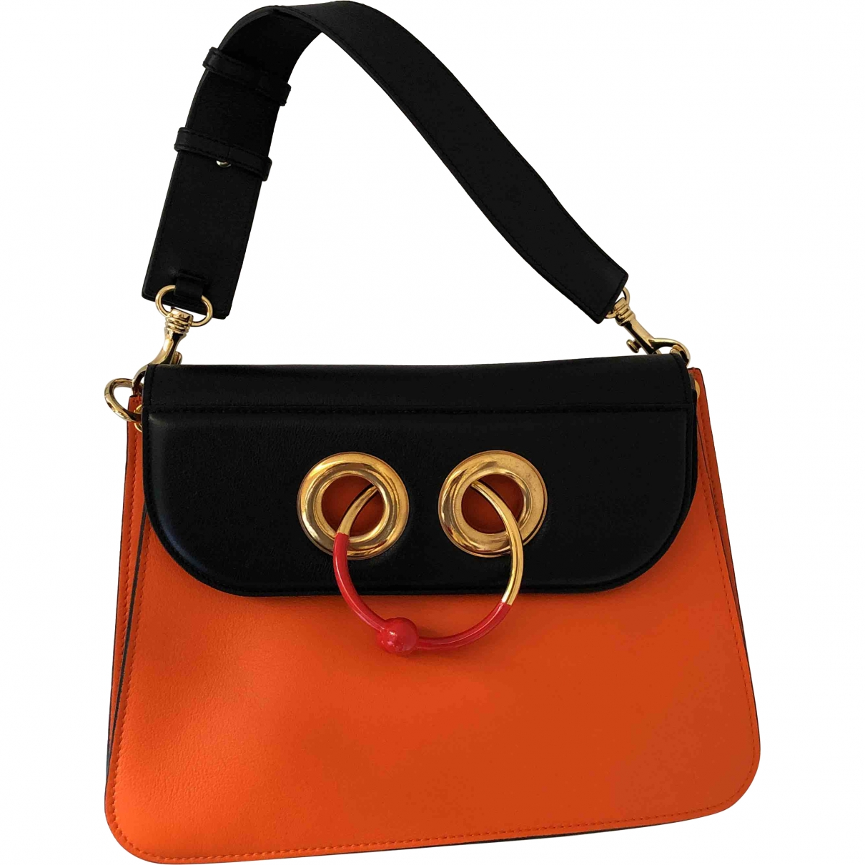 J.w. Anderson Pierce Orange Leather handbag for Women \N