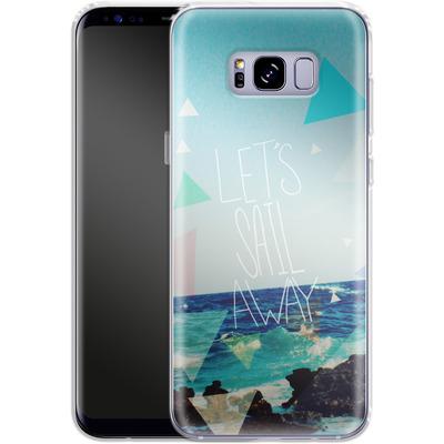 Samsung Galaxy S8 Plus Silikon Handyhuelle - Lets Sail Away von Leah Flores
