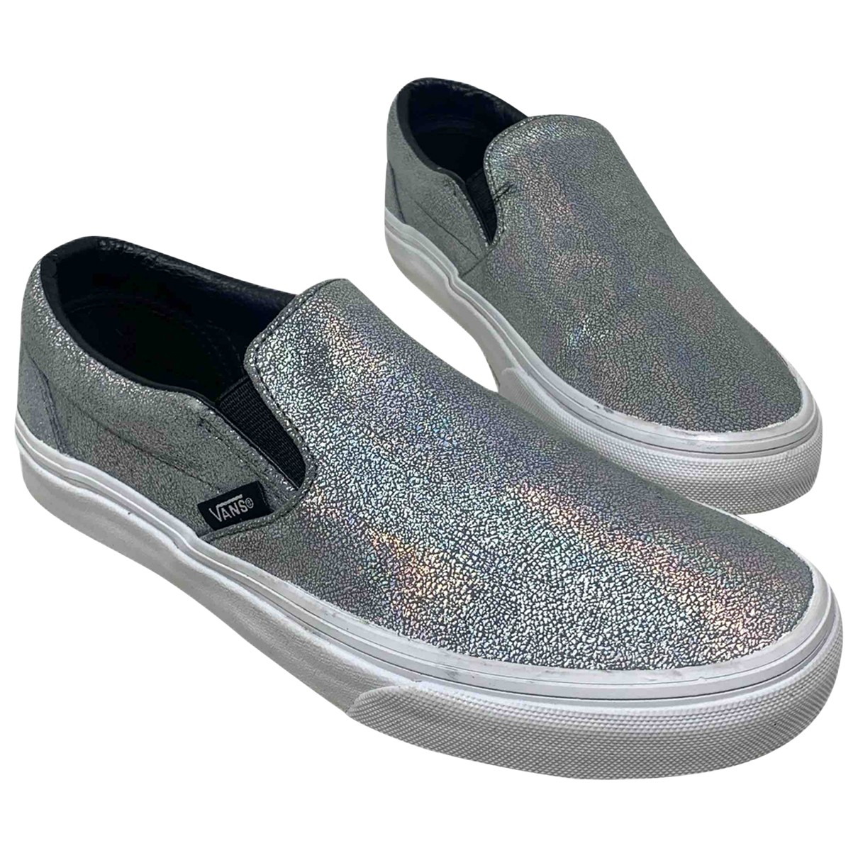 Vans \N Sneakers in  Silber Leder