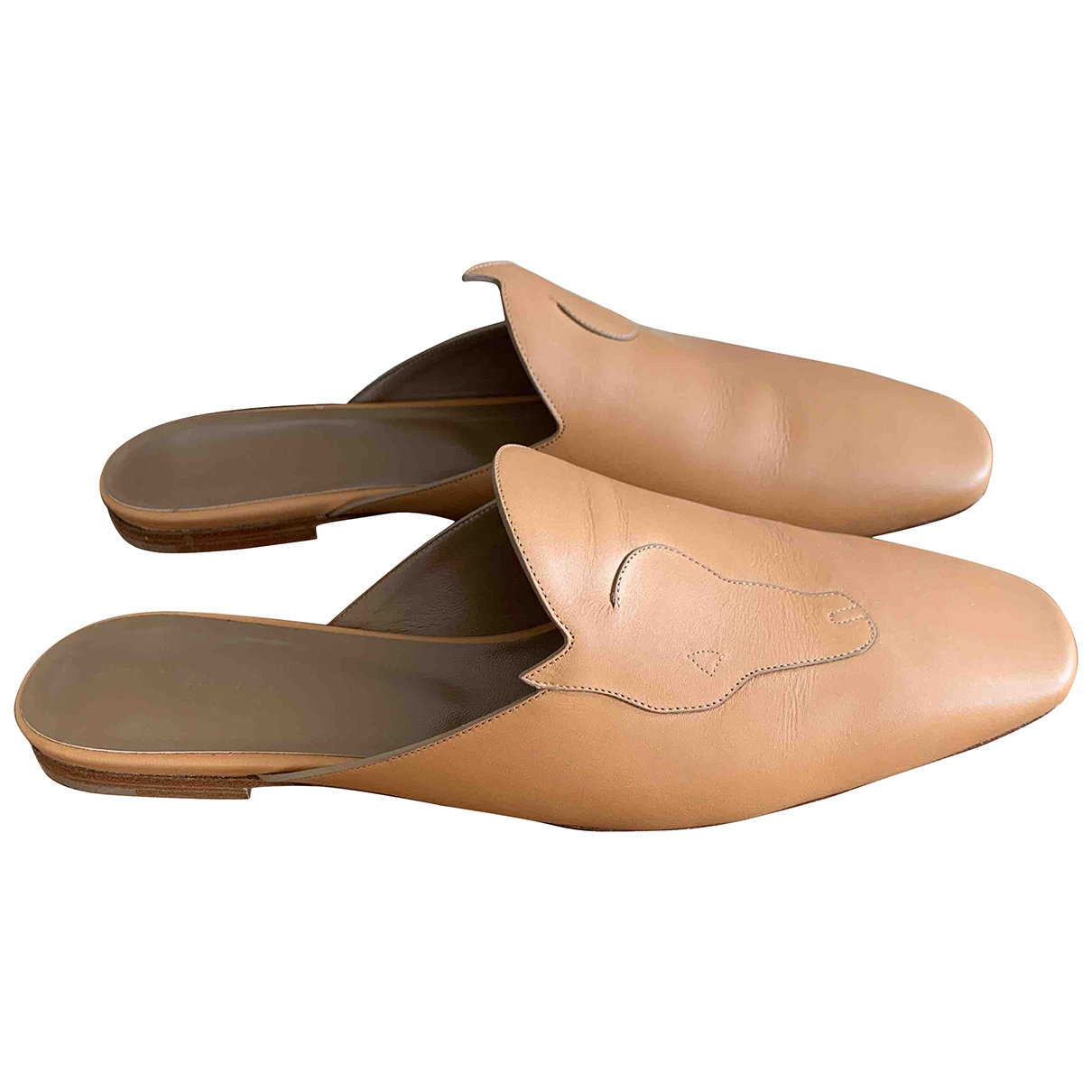 Hermès \N Beige Leather Flats for Women 40 EU