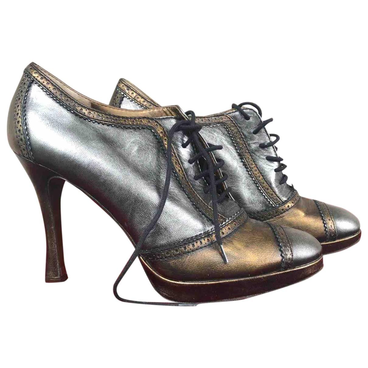 Dolce & Gabbana \N Stiefeletten in  Metallic Leder