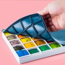 1pc Multi-grid Art Palette With Lid