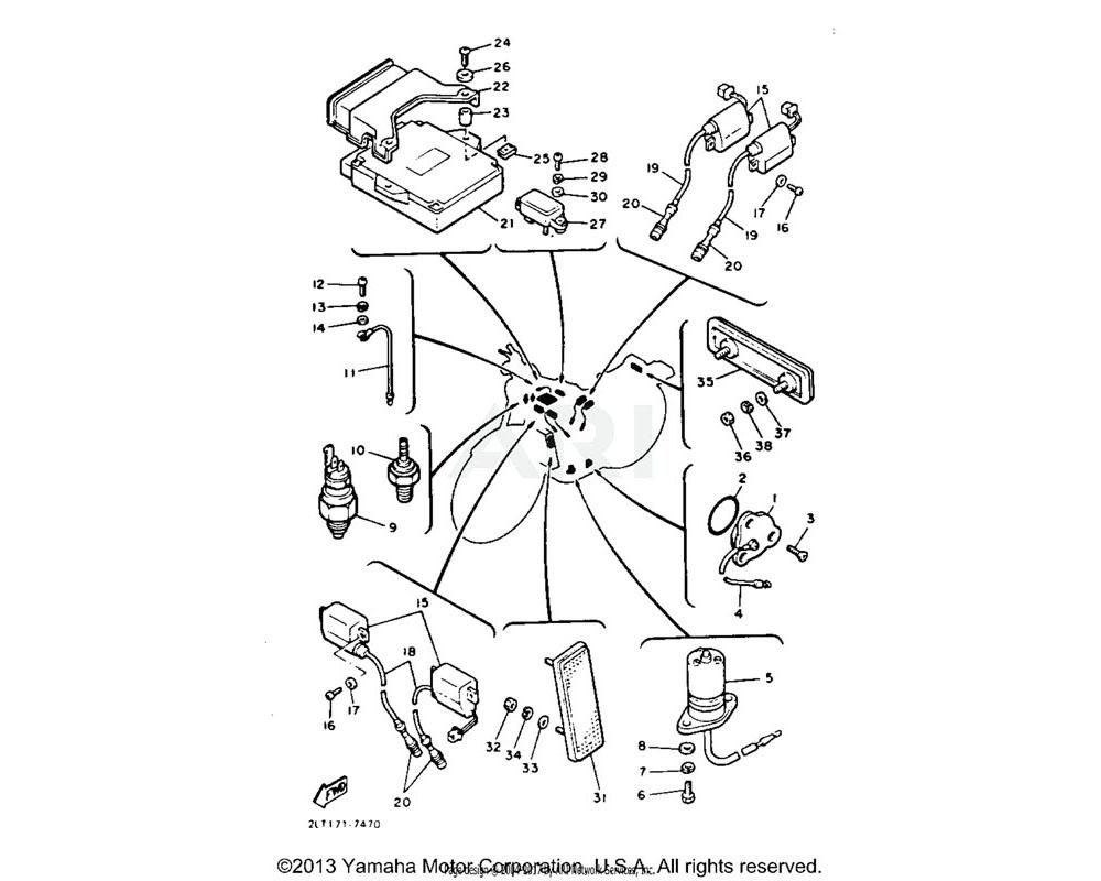 Yamaha OEM 3LN-82560-01-00 THERMO SWITCH ASSY