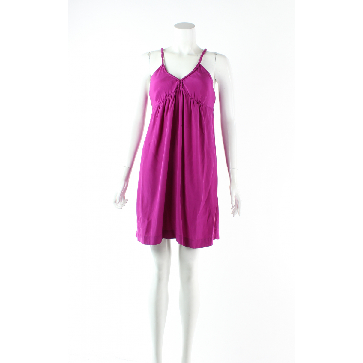 Sandro - Robe   pour femme en soie - rose
