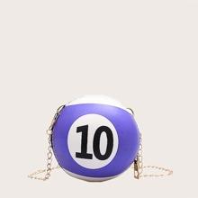 Mini Billiard Chain Crossbody Bag