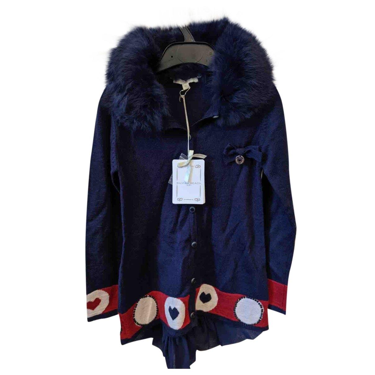 - Pull   pour enfant en laine - marine