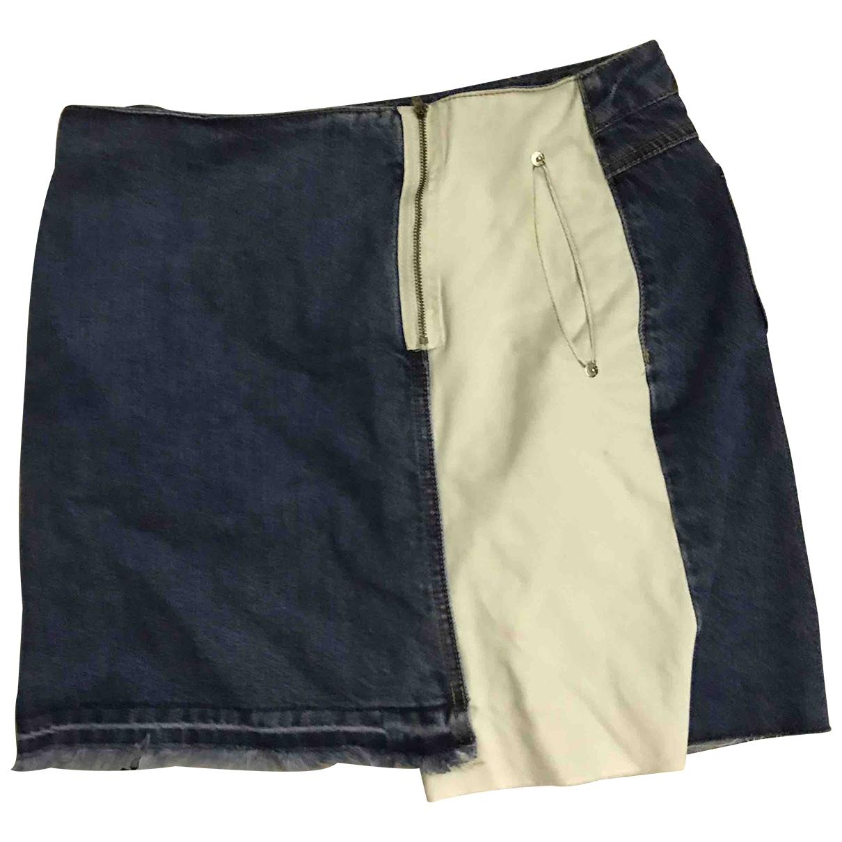 Sjyp - Jupe   pour femme en coton - bleu