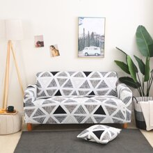 Geometric Pattern Sofa Cover Without Cushion