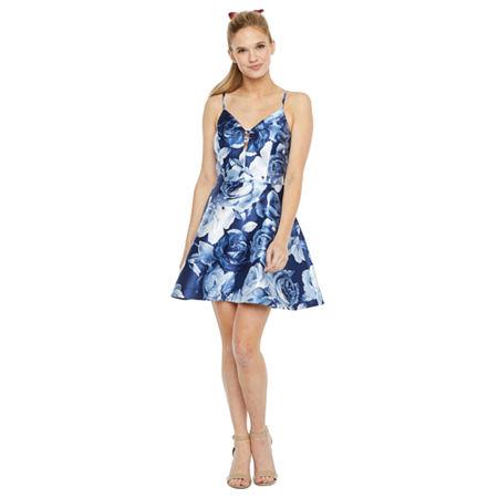 Speechless Sleeveless Party Dress-Juniors, 13 , Blue