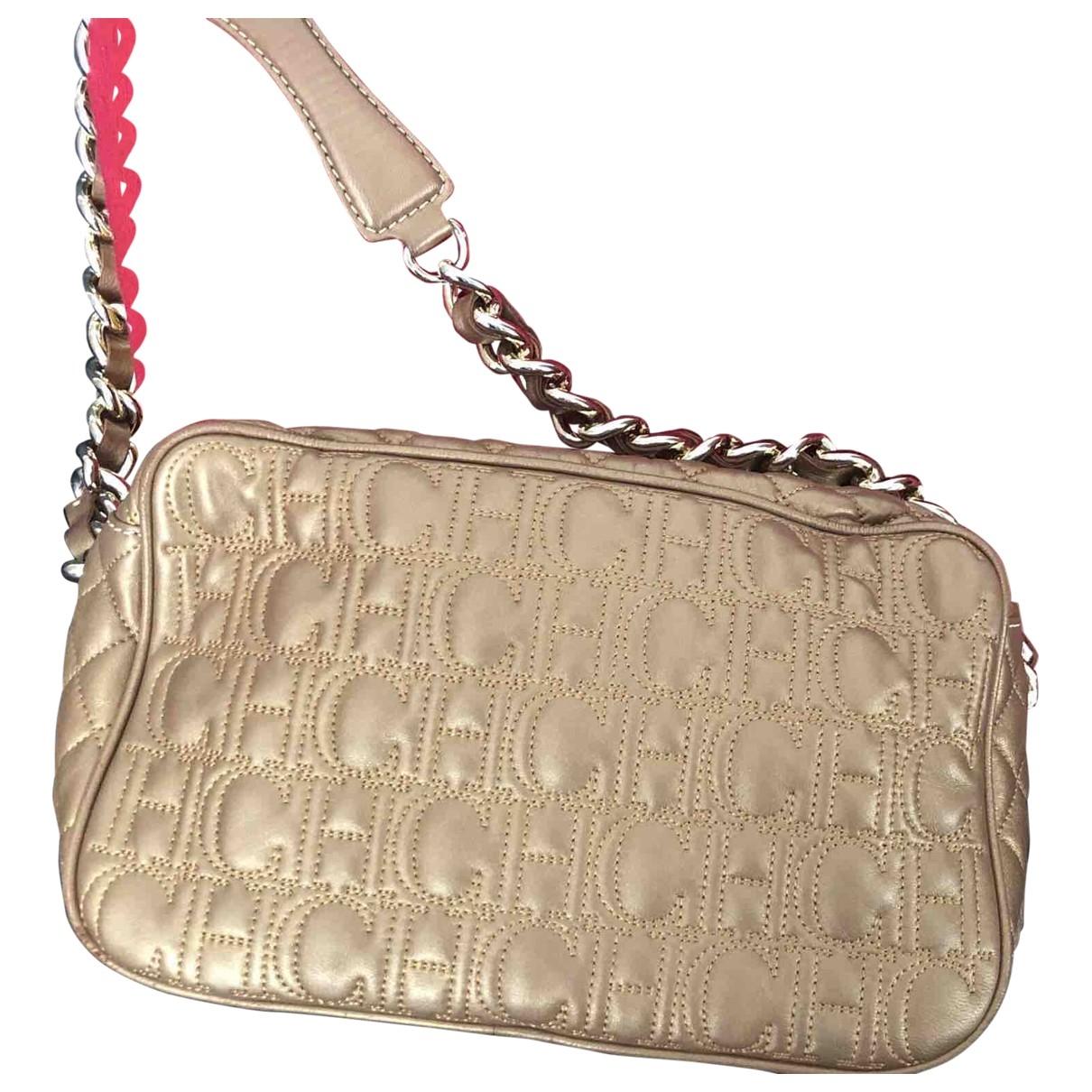 Carolina Herrera \N Gold Leather handbag for Women \N