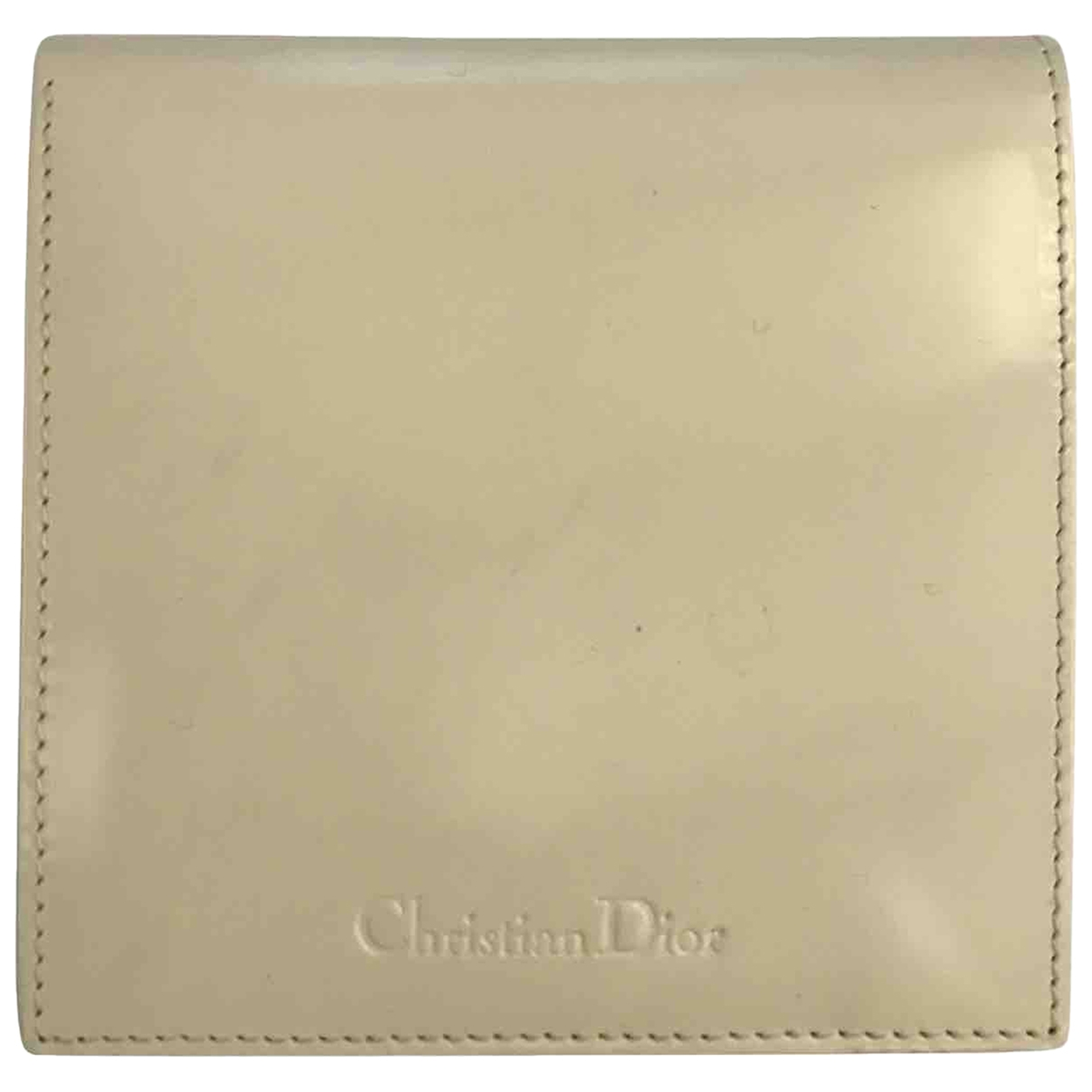 Dior - Portefeuille   pour femme en cuir - blanc