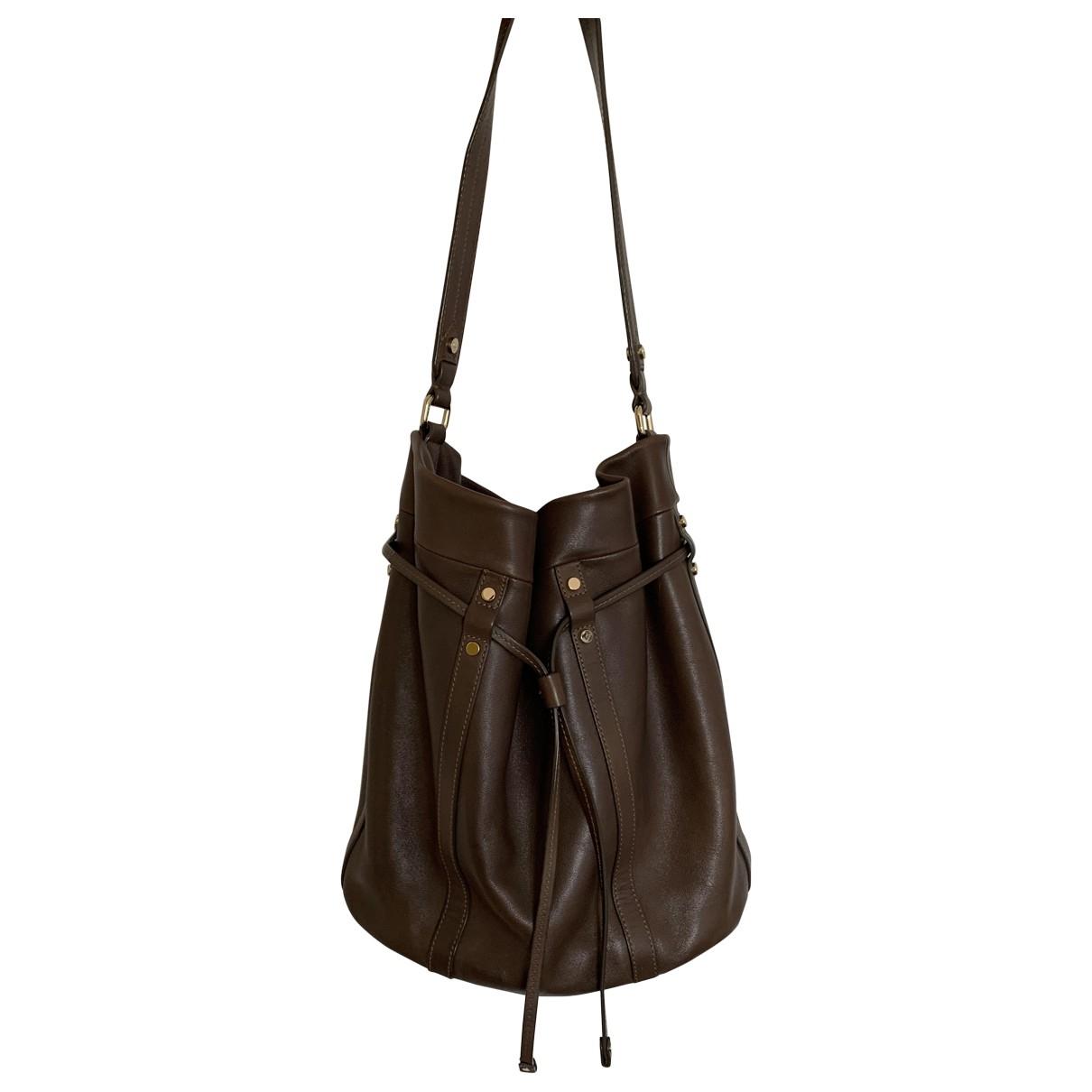Lancel \N Brown Leather handbag for Women \N