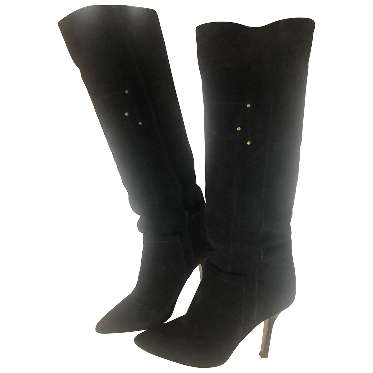 Jerome Dreyfuss \N Black Suede Boots for Women 37.5 EU