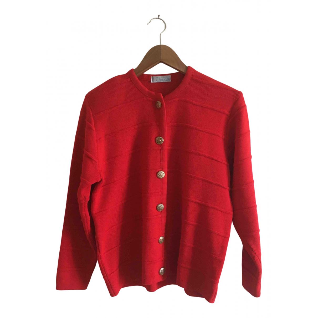 - Pull Epaulettes pour femme en laine - rouge