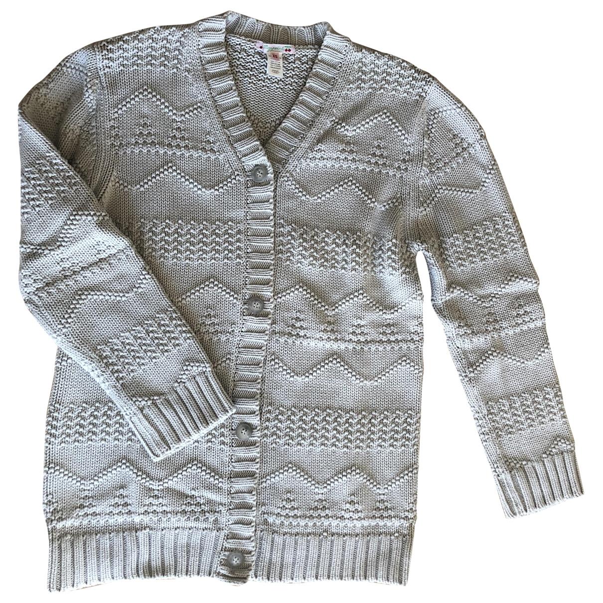 Bonpoint - Pull   pour femme en coton - beige