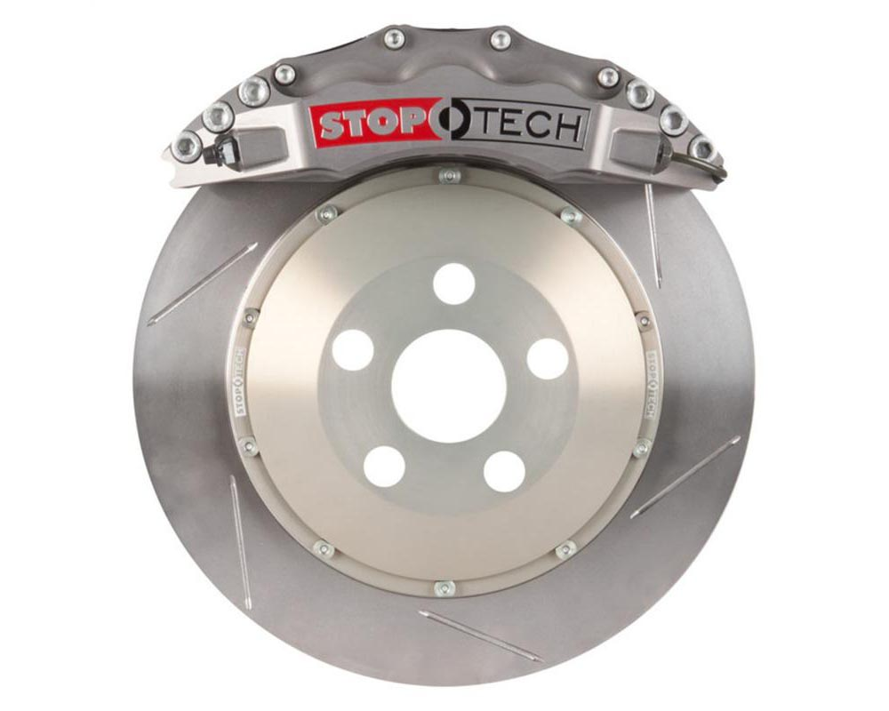 StopTech 83.789.6800.R1 Trophy Sport Big Brake Kit Silver Caliper Slotted 2-Piece Rotor Front Porsche Front 3.8L 6-Cyl
