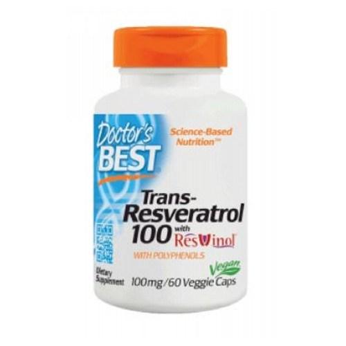 Best Trans Resveratrol 100 Featuring Resvinol-25 60 Veggie Caps by Doctors Best