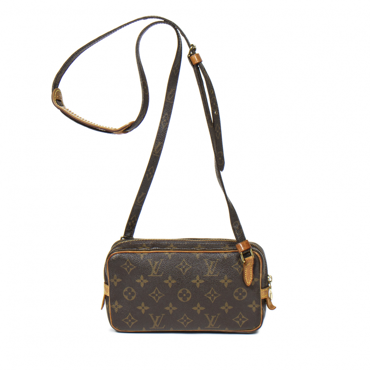 Louis Vuitton - Sac a main Marly pour femme en coton - marron