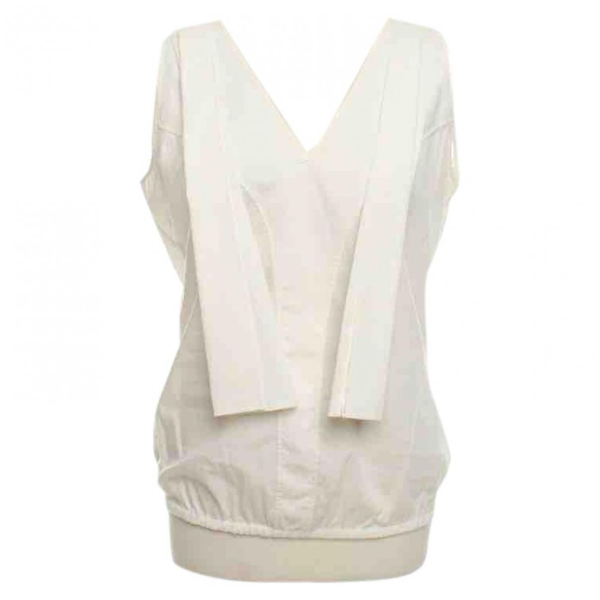 Neil Barrett - Top   pour femme en coton - blanc