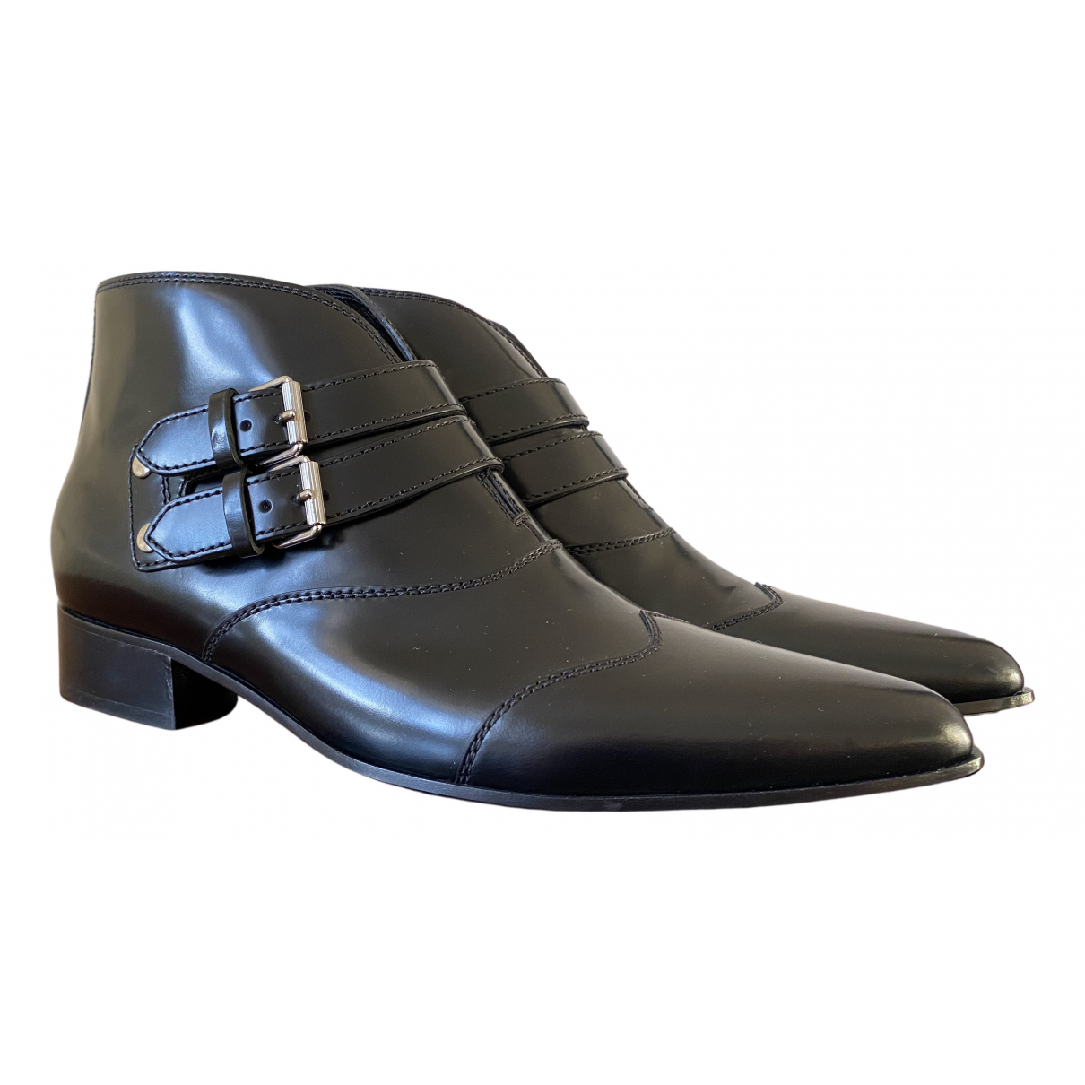 Givenchy N Black Leather Ankle boots for Women 39 EU