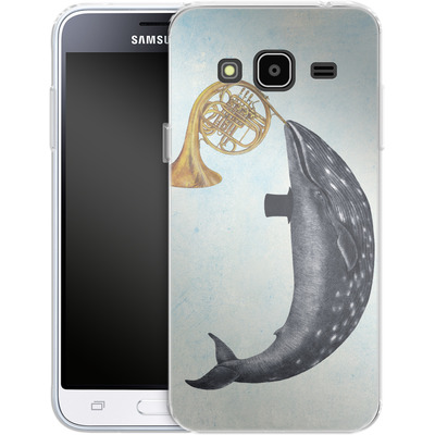 Samsung Galaxy J3 (2016) Silikon Handyhuelle - Whale Song von Terry Fan