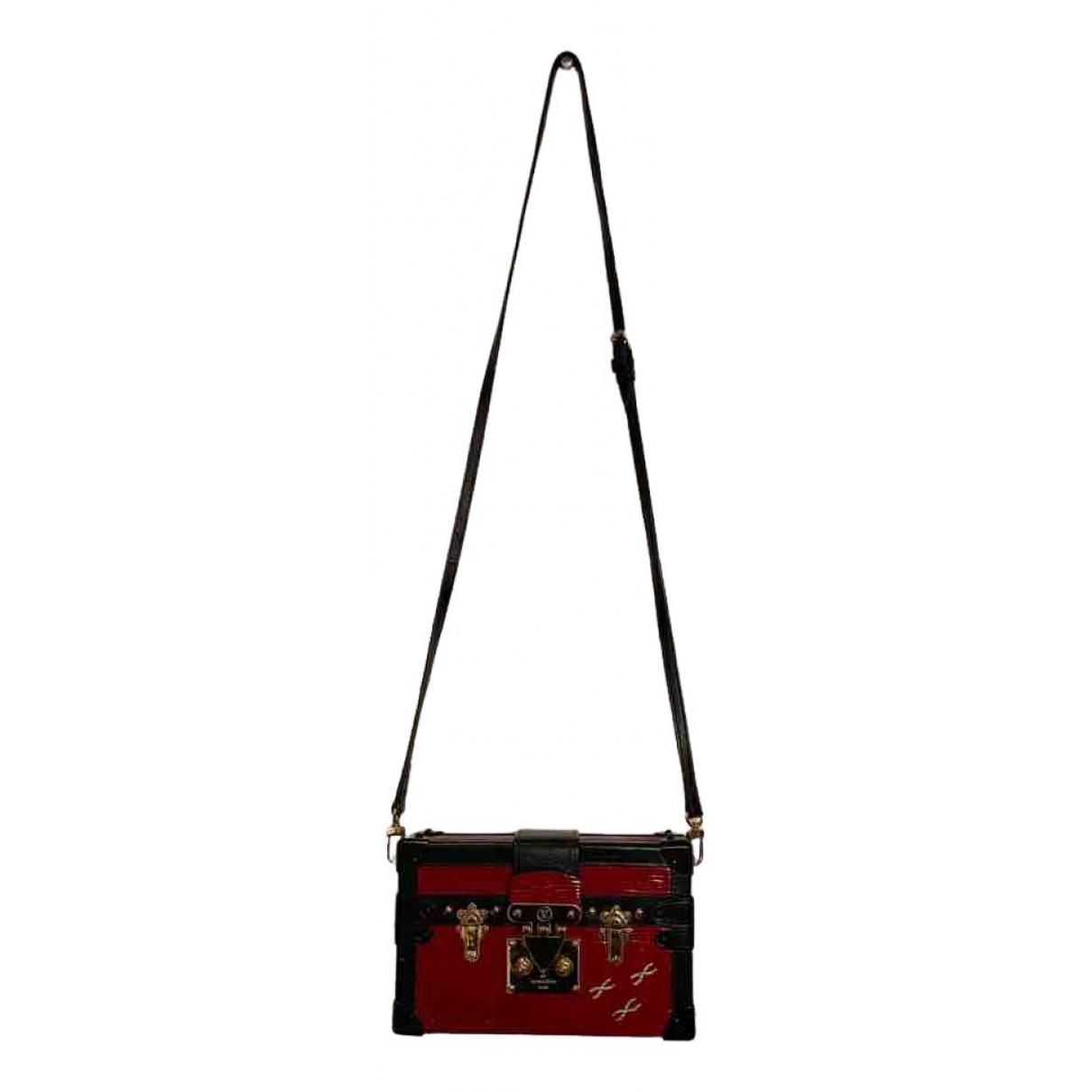 Louis Vuitton Petit Malle Red Leather handbag for Women N