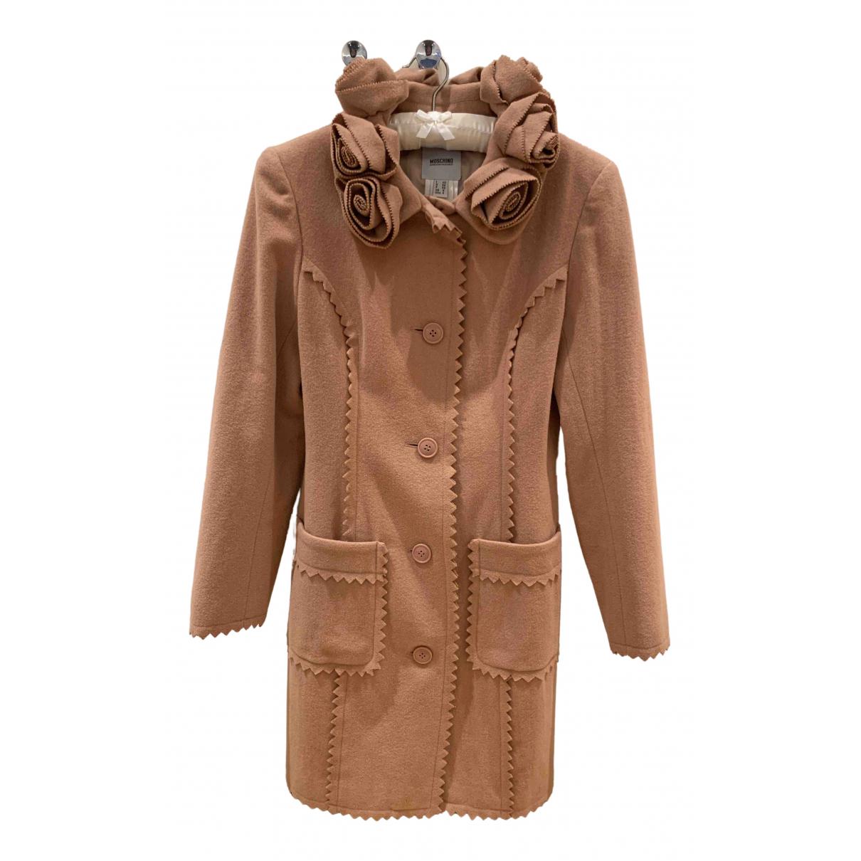 Moschino - Manteau   pour femme en laine - rose
