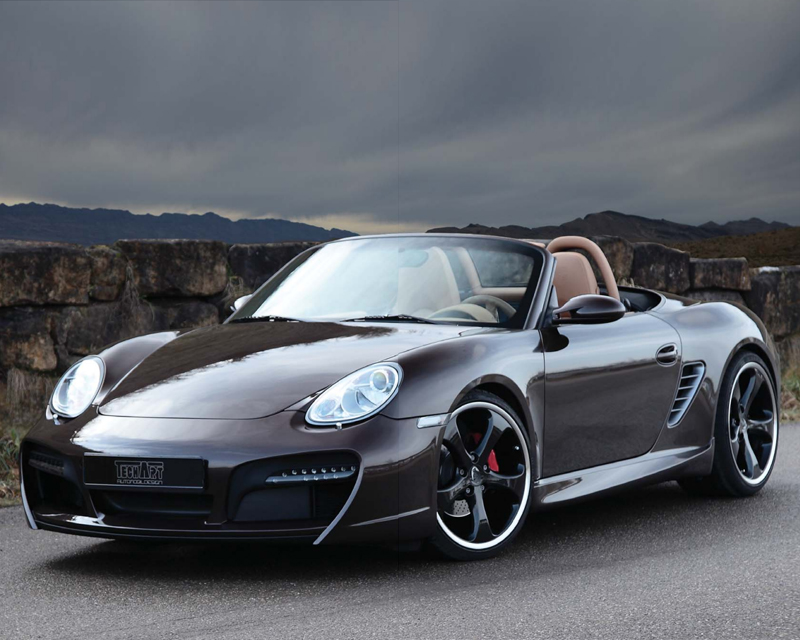 TechArt 087.100.122.009CHR Front Spoiler Type 2 with Chrome Running Lights Porsche Boxster without OE DRL 05-12