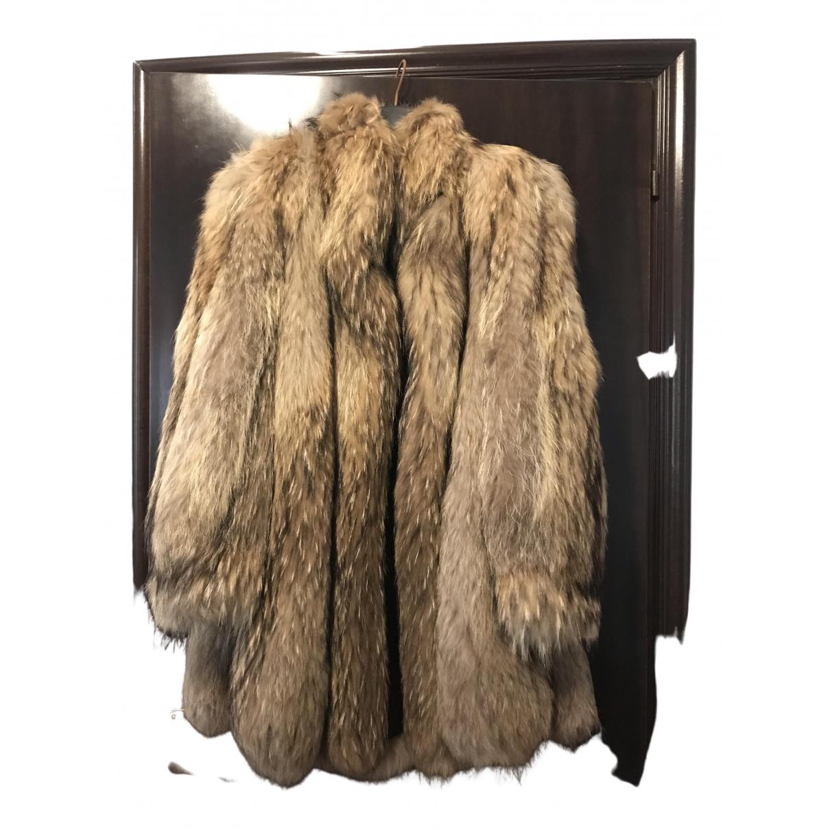 - Veste Oversize pour femme en fourrure - multicolore