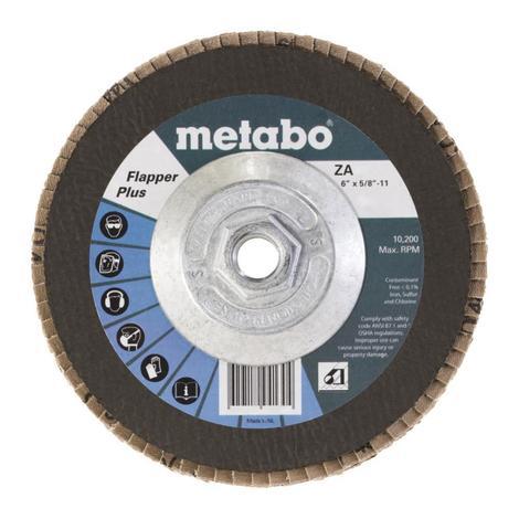 Metabo 6 In. Flapper Plus 120 5/8 In.-11 T29 Fiberglass